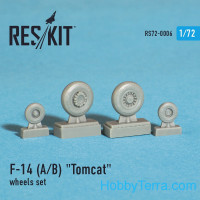 Wheels set 1/72 for F-14 (A/B) Tomcat