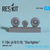Wheels set 1/72 for F-104 (A/B/C/D) Starfighter