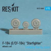 Wheels set 1/72 for F-104 (E) and CF-104 Starfighter