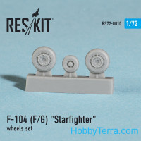 Wheels set 1/72 for F-104 (F/G) Starfighter