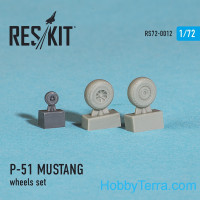 Wheels set 1/72 for P-51 Mustang