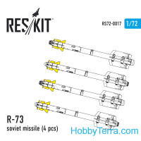 Soviet missile R-73, 4 pcs. (1/72), for Italeri/Zvezda kit