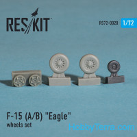 Wheels set 1/72 for F-15 (A/B) Eagle