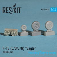 Wheels set 1/72 for F-15 (C/D/J/N) Eagle