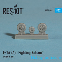 Wheels set 1/72 for F-16 (A) Fighting Falcon