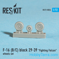 Wheels set 1/72 for F-16 (B/C) Block 29-39 Fighting Falcon