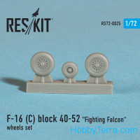 Wheels set 1/72 for F-16 (C) Block 40-52 Fighting Falcon