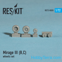 Wheels set 1/72 for Mirage III (B,C)
