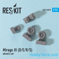 Wheels set 1/72 for Mirage III (D/E/R/S)