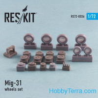 Wheels set 1/72 for Mig-31, for Condor/Zvezda kit