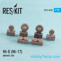 Wheels set 1/72 for Mi-8 (Mi-17), for HobbyBoss/Zvezda kit