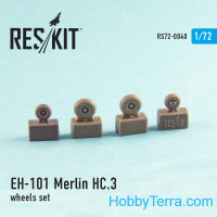 Wheels set 1/72 for Merlin HC.3 only England (FAA), for Italeri/Revell kit