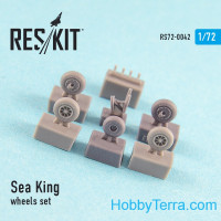 Wheels set 1/72 for Sea King (all versions), for Airfix/Revell kit