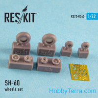 Wheels set 1/72 for SH-60 (all versions), for Italeri/HobbyBoss kit
