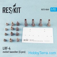 Rocket Launcher LRF-4 (4 pcs), for Italeri/HobbyBoss kit