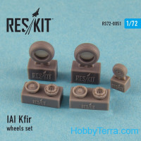 Wheels set 1/72 for IAI Kfir, for Italeri/Hasegawa kit