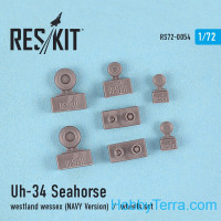 Wheels set 1/72 for UH-34 Seahorse / Westland Wessex (NAVY versions), for Italeri/Revell kit