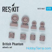Wheels set 1/72 for British Phantom