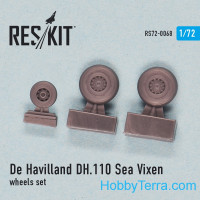 "Wheels set 1/72 for De Havilland DH.110 ""Sea Vixen"""