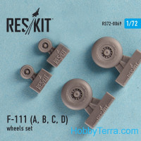 Wheels set 1/72 for F-111 (A, B, C, D)