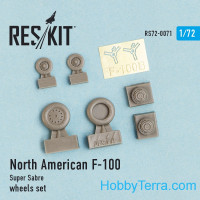 "Wheels set 1/72 for North American F-100 ""Super Sabre"""