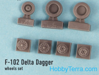 "Wheels set 1/72 for F-102 ""Delta Dagger"""