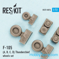 Wheels set 1/72 for Republic F-105 (A, B, C, D)