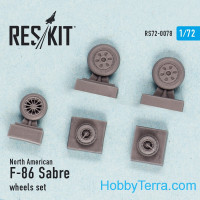 Wheels set 1/72 for F-86