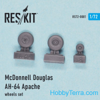 Wheels set 1/72 for AH-64