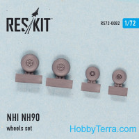 Wheels set 1/72 for Helicopter NHI NH90