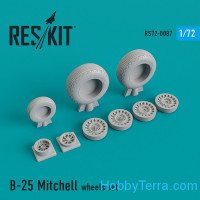 "Wheels set 1/72 for North American B-25 ""Mitchell"""