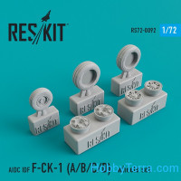 Wheels set 1/72 for AIDC IDF F-CK-1 (A/B/C/D)