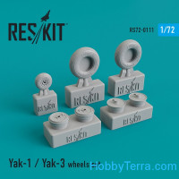Wheels set 1/72 for Yak-1/Yak-3