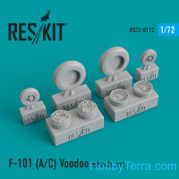 "Wheels set 1/72 for McDonnell F-101 (A/C) ""Voodoo"""