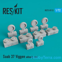 "Wheels set 1/72 for Saab 37 ""Viggen"""
