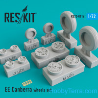 Wheels set 1/72 for EE Canberra