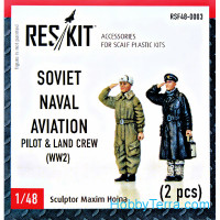 Soviet Naval Aviation pilot & land crew set (WW2)