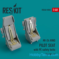 Upgrade Set for MI-24 HIND Pilot Seat With PE Safety Belts