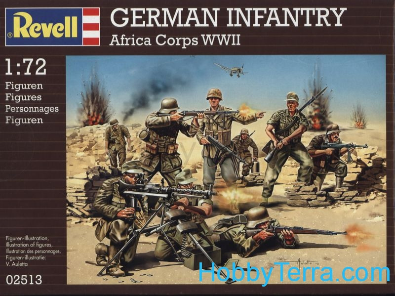 Revell  02513 German Infantry, Africa Corps