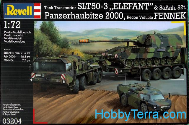 Set of kits: Elefant, Fenneck and PzH 2000 Modern German Army