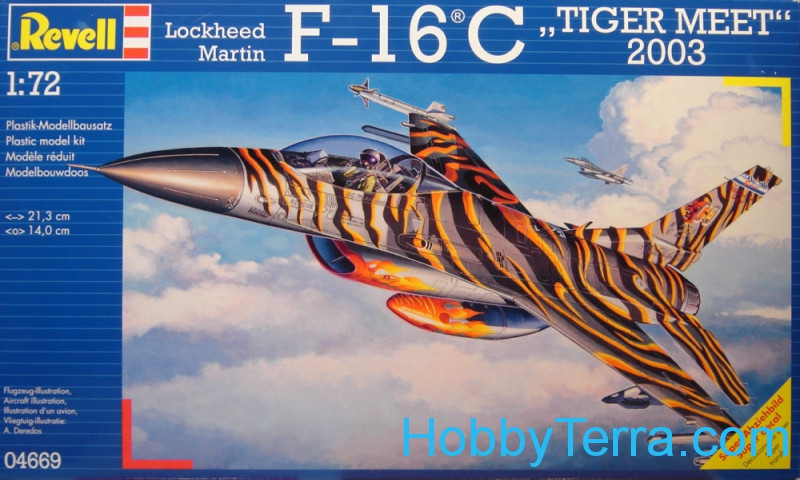 "Revell  04669 F-16C ""Tigermeet"" 2003 fighter"