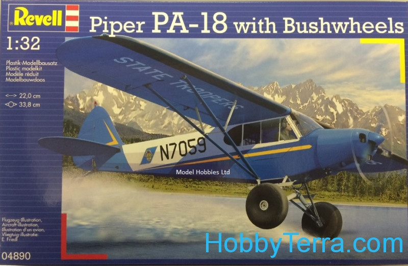 Revell  04890 Piper PA-18 with brushwheels