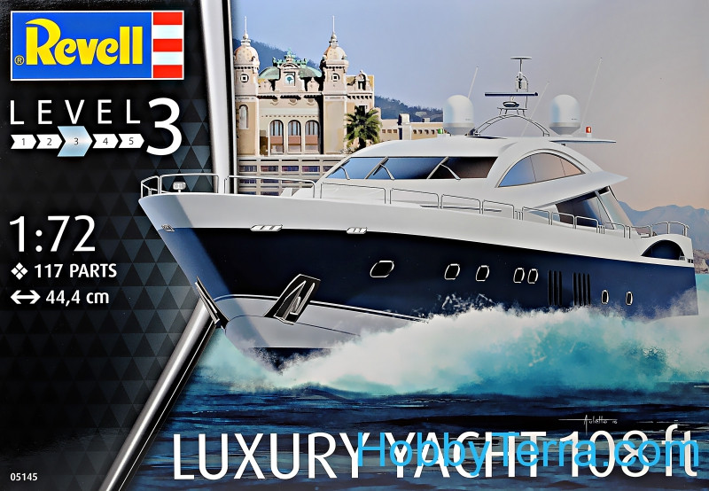 Revell  05145 Luxury yacht 108 ft. Level 3