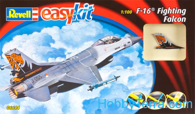 Revell  06644 F-16 Fighting Falcon fighter, easy kit