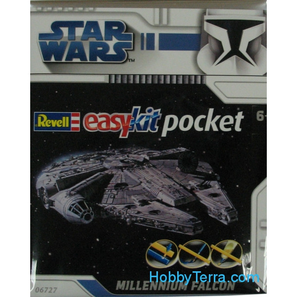 Star Wars. Spacecraft Millenium Falcon - easy kit Poсket