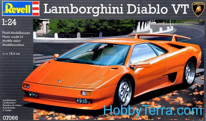 Lamborghini Diablo Vt Sports Car 1 24 Scale Kit Revell 07066