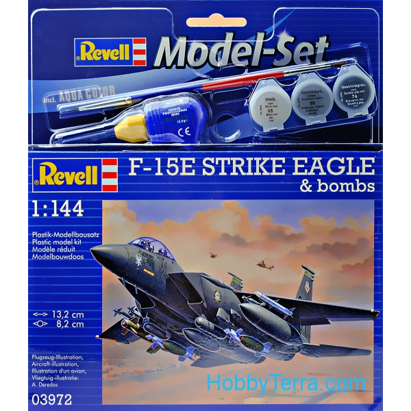 Model Set. F-15E Strike Eagle & bombs