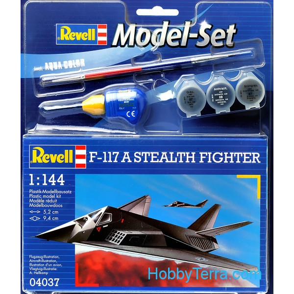 Model Set. F-117 Stealth fighter