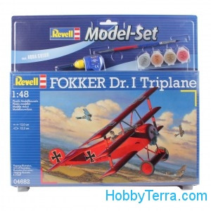 Model Set. Fokker DR.I triplane