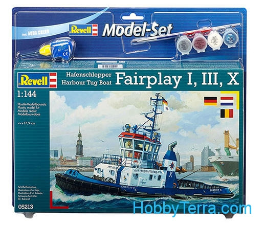 "Model Set. Harbour Tug Boat ""Fairplay I, III, X, XIV"""